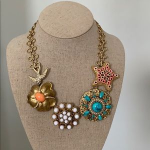 Stella & Dot Birds of Paradise statement necklace